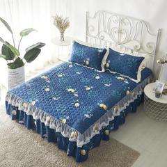 单品床罩类13 蕾丝款夹棉床罩/床裙 16个 120cmx200cm 绿意仙境