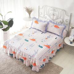 单品床罩类13 蕾丝款夹棉床罩/床裙 16个 120cmx200cm 兔子先生