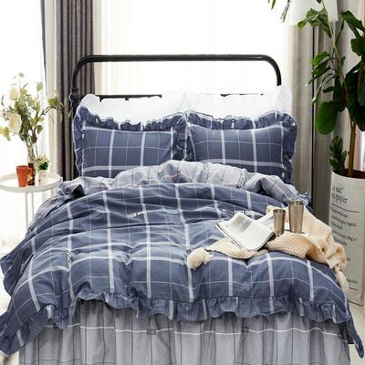 套件9 全棉床裙式床单四件套 1.5床 格调