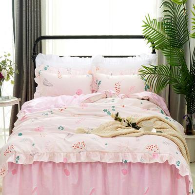 套件9 全棉床裙式床单四件套 1.5床 果实