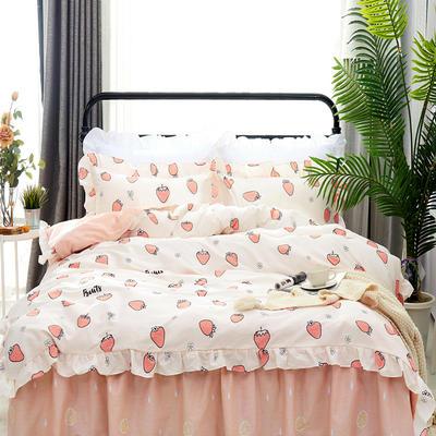 套件9 全棉床裙式床单四件套 1.5床 蜜糖