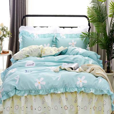 套件9 全棉床裙式床单四件套 1.5床 沁香