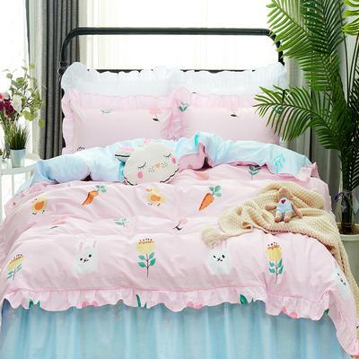 套件9 全棉床裙式床单四件套 1.5床 小白兔