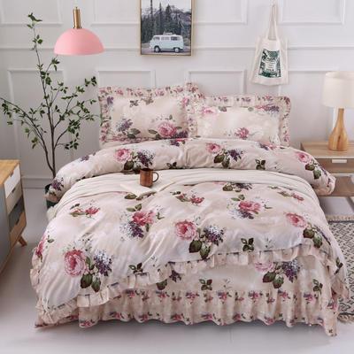 套件9 全棉床裙式床单四件套 1.5床 春园花海