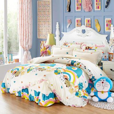 套件9 全棉床裙式床单四件套 1.5床 大象的梦想