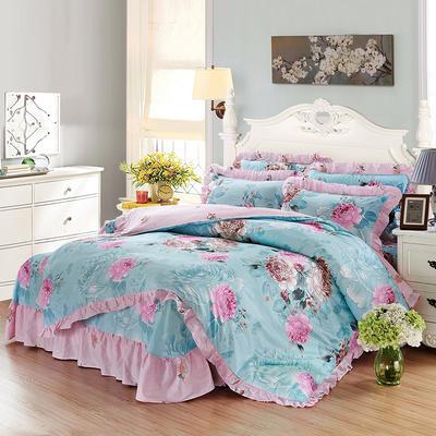 套件9 全棉床裙式床单四件套 1.5床 倾世皇妃
