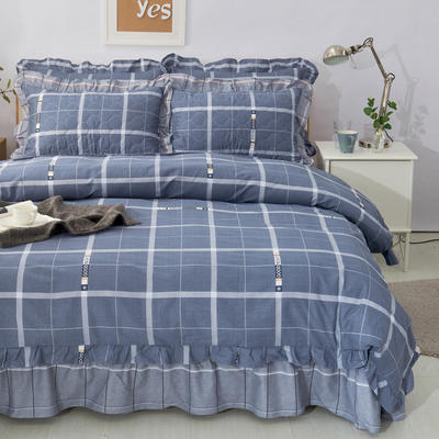 套件10  全棉夹棉床单(床盖)四件套 1.5床 格调