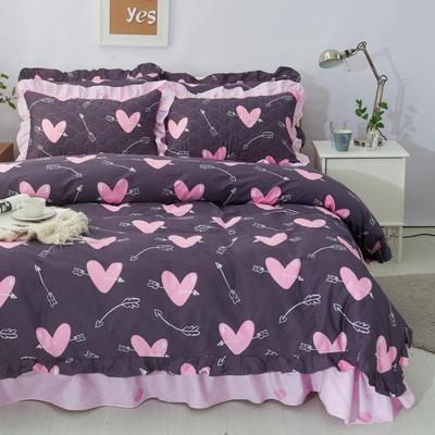 套件10  全棉夹棉床单(床盖)四件套 1.5床 丘比特