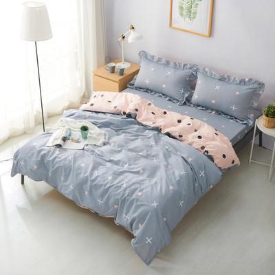 套件19 全棉小清新多规格床单四件套46 小四件套1.0-1.35床 圆点生活