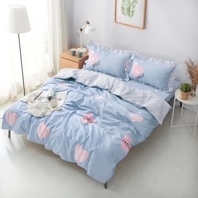 套件19 全棉小清新多规格床单四件套46 小四件套1.0-1.35床 粉红甜心