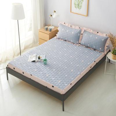 单品床笠类2 印花夹棉床笠(床垫套) 120cmx200cm 圆点生活