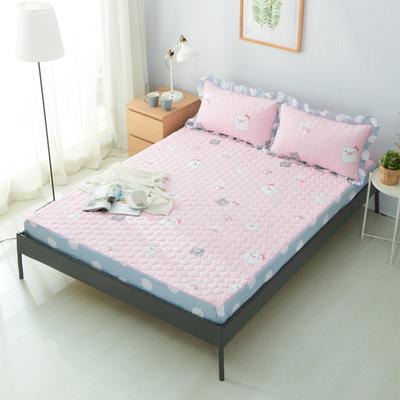 单品床笠类2 印花夹棉床笠(床垫套) 120cmx200cm 小猪宝宝粉
