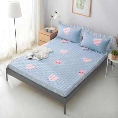 单品床笠类2 印花夹棉床笠(床垫套) 120cmx200cm 粉红甜心