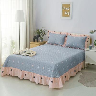 单品床单类4 全棉印花夹棉床单(床盖)50 200*240cm需定做 点点