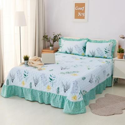 单品床单类4 全棉印花夹棉床单(床盖)50 200*240cm需定做 蕉叶