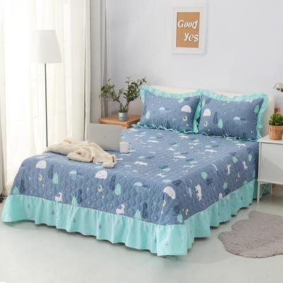 单品床单类4 全棉印花夹棉床单(床盖)50 200*240cm需定做 晚安