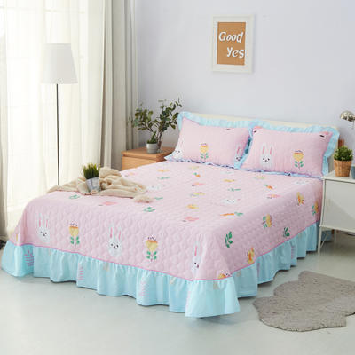 单品床单类4 全棉印花夹棉床单(床盖)50 200*240cm需定做 小白兔