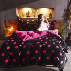 极地保暖绒印花四件套 1.5m(5英尺)床 波普风情