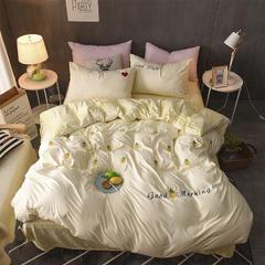 宝瑞 水洗棉刺绣+绒四件套 1.5m(5英尺)床 菠萝
