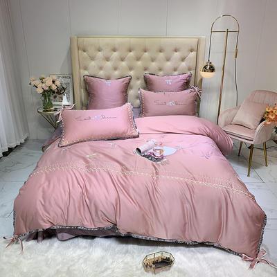 2019新款60长绒棉绣花四件套 30*50cm一个含芯 甜美的梦