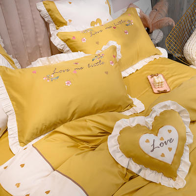埃及60长绒棉系列抱枕靠垫 抱枕(含芯)/只 抱枕爱恋(黄)