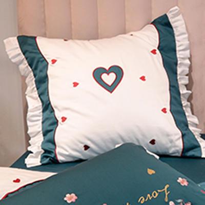 埃及60长绒棉系列抱枕靠垫 靠垫60*60cm/对 靠垫爱恋(墨绿)