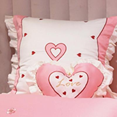 埃及60长绒棉系列抱枕靠垫 靠垫60*60cm/对 靠垫爱恋(香妃粉)