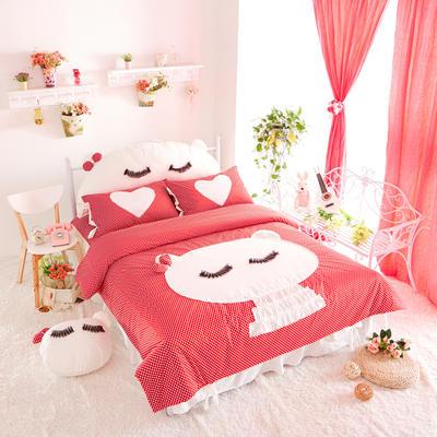 淑女花       美美猫      全棉美美猫 1.2 红猫