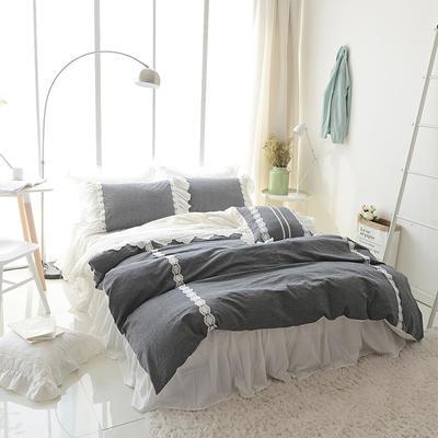 水洗棉-纯色(墨灰) 方枕45*45含芯 墨灰