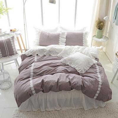 水洗棉-纯色(深紫) 方枕45*45含芯 深紫