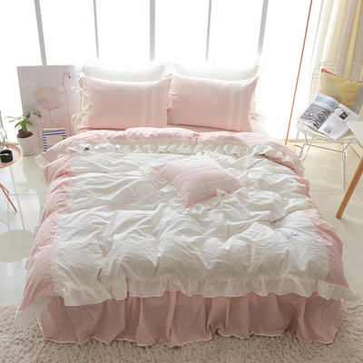 水洗棉-情书(情书-粉) 方枕45*45含芯 情书-粉