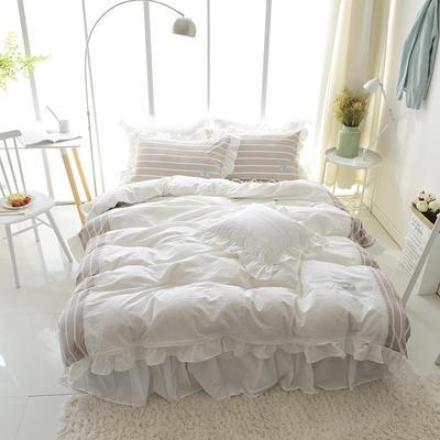 水洗棉-岁月静好(岁月静好-浅咖) 方枕45*45含芯 岁月静好-浅咖