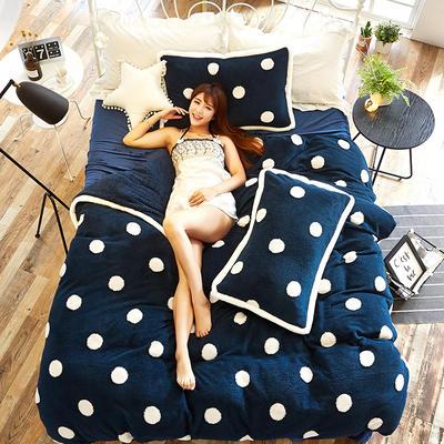 提花宝宝【绒】 1.2m(4英尺)床 冬日暖阳-宝石蓝