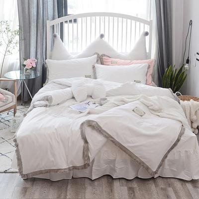 2018新款宁静全棉款---单款 1.2m床 宁静夏季款-白