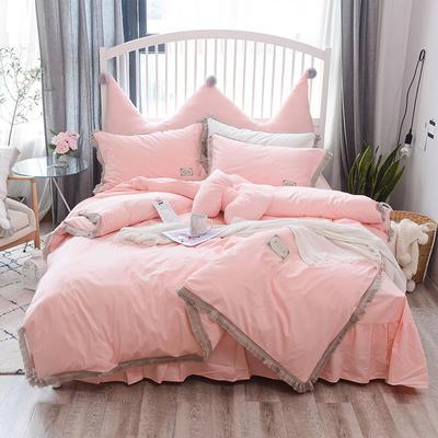 2018新款宁静全棉款---单款 1.2m床 宁静夏季款-粉