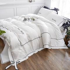 2018新款-水洗天丝四件套-丘比特 1.2m床单款 纯净白