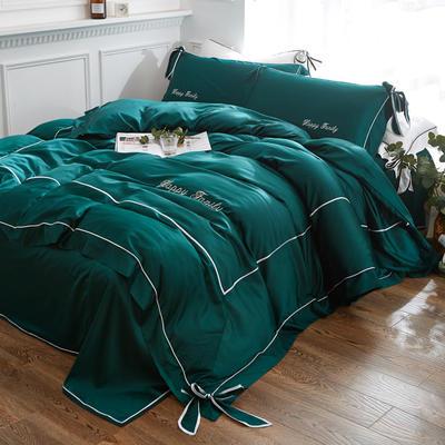 2018新款-水洗天丝四件套-丘比特 1.2m床单款 复古绿