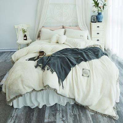 2018新款宁静羊羔绒四件套 1.2m(4英尺)床 纯净白