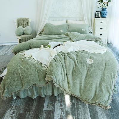 2018新款宁静羊羔绒四件套 1.2m(4英尺)床 复古绿