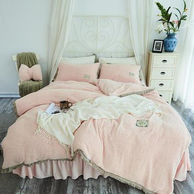2018新款宁静羊羔绒四件套 1.2m(4英尺)床 浪漫粉