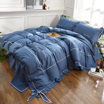 2018新款丘比特全棉款四件套 1.2m床 蓝色