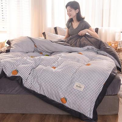 2019新款阳绒保暖四件套 1.5m床(床单款) 水果派对