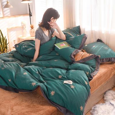 2019新款阳绒保暖四件套 1.2m床三件套(床单款) 叶梦枫桦