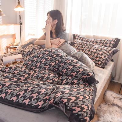 2019新款阳绒保暖四件套 1.8m床(床笠款) 重温旧梦