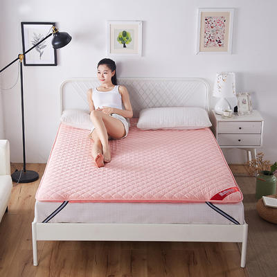 2019新款双面保暖床垫 120*200 粉色