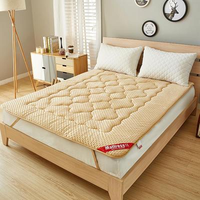 2019新款法莱绒防滑按摩床垫 150*200 驼色