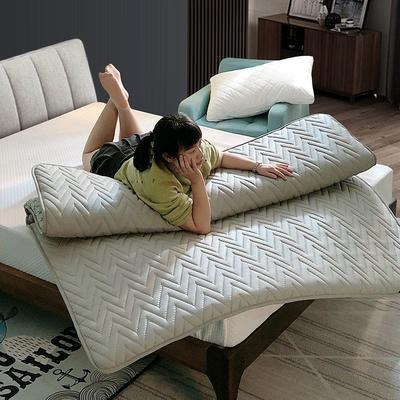 2019新款普通磨毛亲肤棉乳胶床垫 150*200cm 灰色