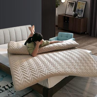 2019新款普通磨毛亲肤棉乳胶床垫 90*200cm 咖啡色