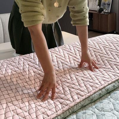 2019新款普通磨毛亲肤棉乳胶床垫 150*200cm 洛丽塔粉