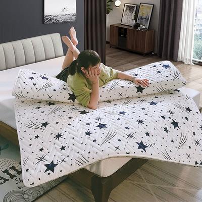 2019新款普通磨毛亲肤棉乳胶床垫 150*200cm 梦幻之旅白